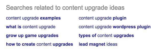 recherche connexe google