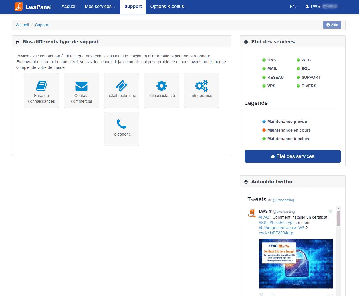 Lws hébergement web