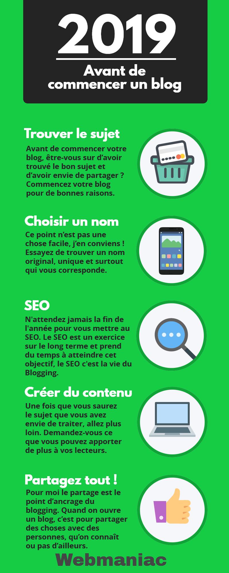 Commencer un blog infographie