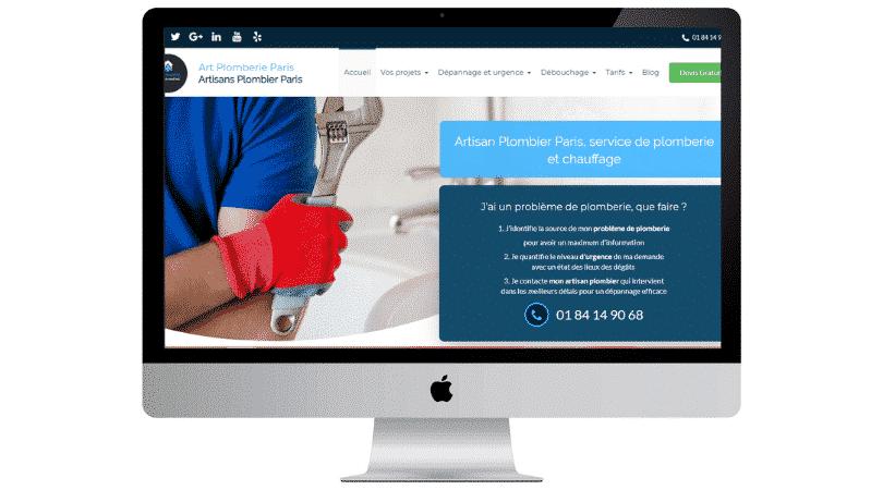plombier création site web