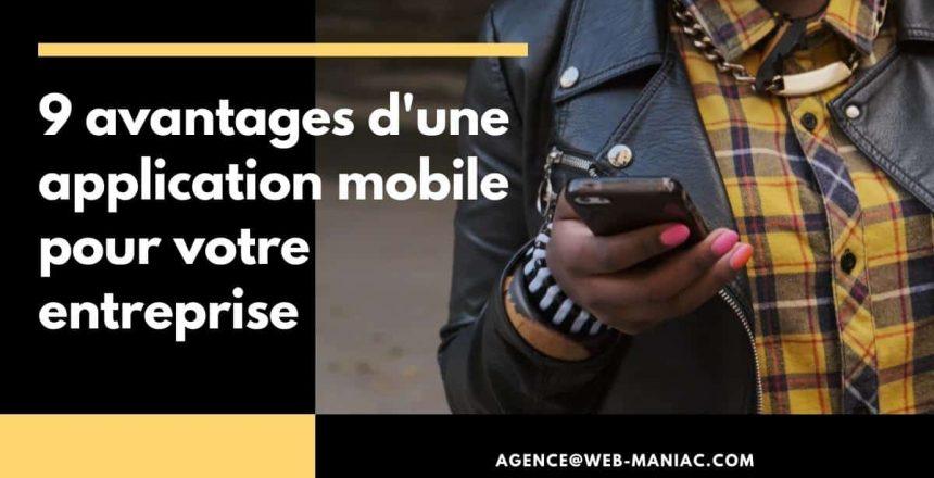 avantages application mobile