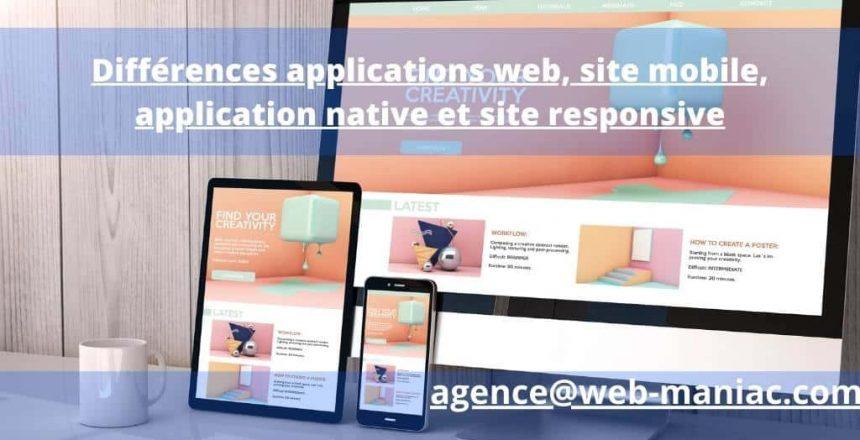 application mobile ou site web mobile