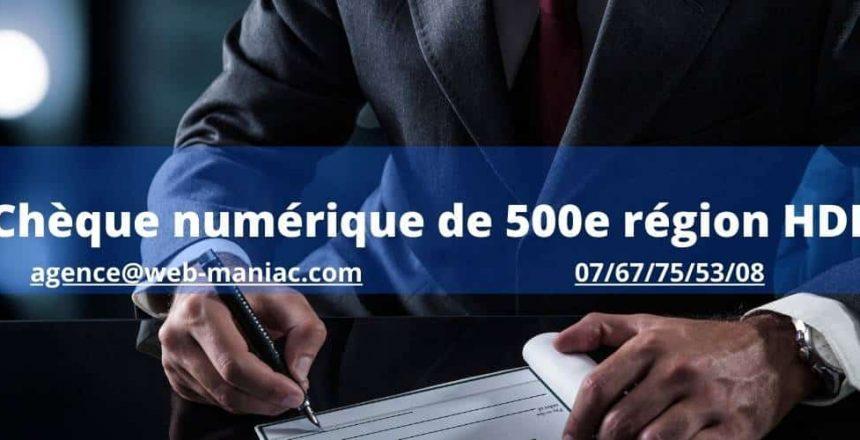 cheque numérique 500e