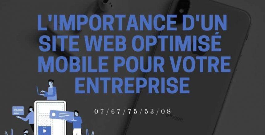 site optimise pour mobile